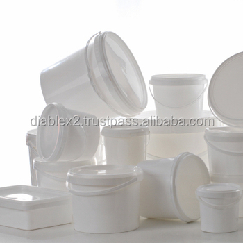 Plastic Buckets and Pails For Paint Food Or Chemicals
