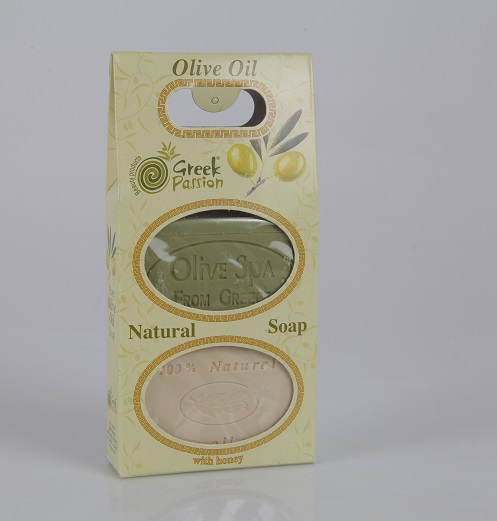 Pure Traditional Greek Olive Oil Bar Soap with Honey & Natural Olive Oil Soap / 2 in 1 packaging / Bath - Body - Hand - Face