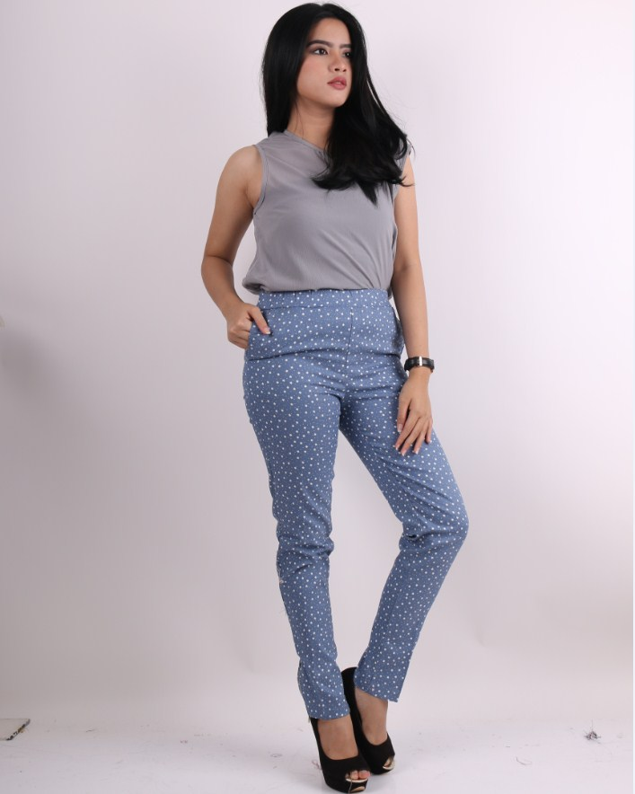 New Ladies Smart Trousers New Look Stars Printed Beautiful Pencil Pants