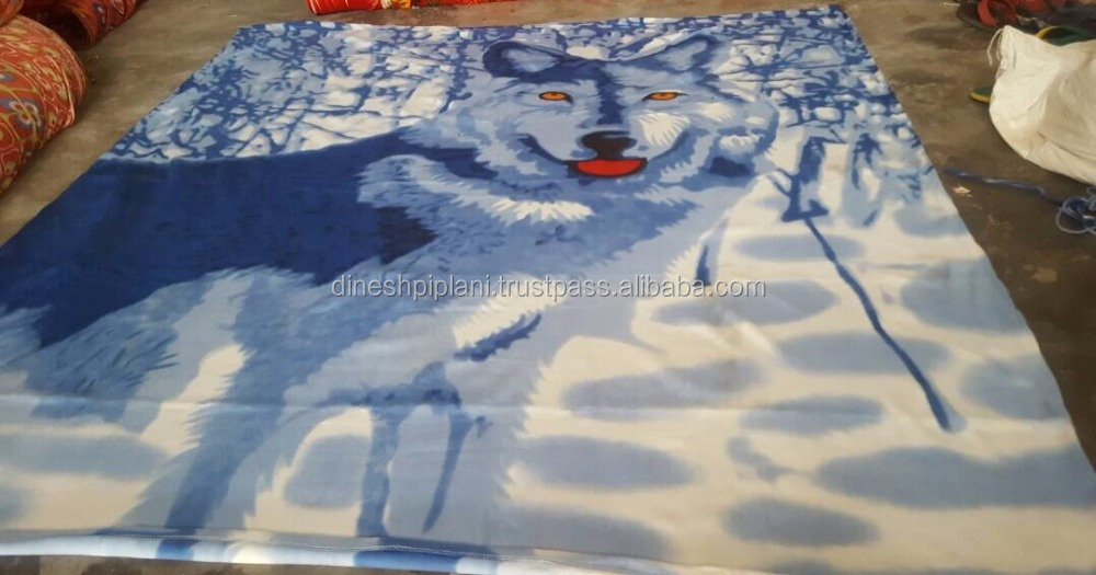 stock lot of animal printed polar fleece blanket