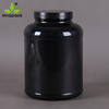 PET plastic jar protein powder jar black plastic container with screw cap