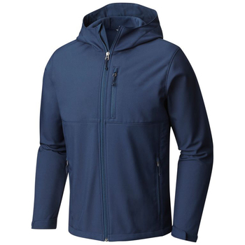 Top Quality Navy Soft Shell Jacket Hoodie for Men 2019