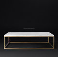 Stainless Steel Side Dining Table | Marble Top Coffee Table