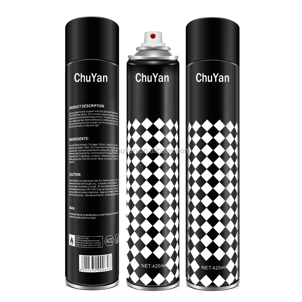 factory price private label best hair spray 420ml