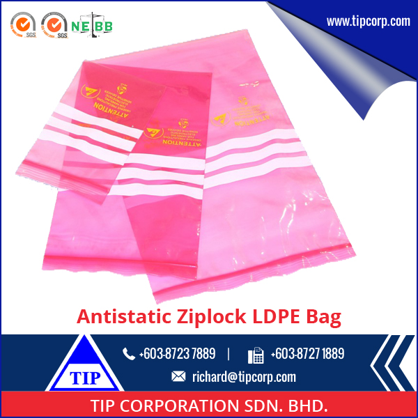 Machine Made Plastic Colored Zipper LDPE Bag for Sale