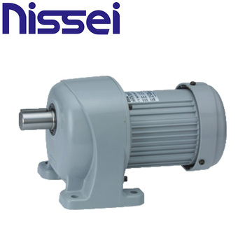 Different types of gearmotor (DC, induction, servomotor, reducer, etc) manufactured by Nissei Corporation. Made in Japan