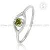 High quality peridot gemstone silver rings wholesaler 925 sterling silver jewelry suppliers INDIA