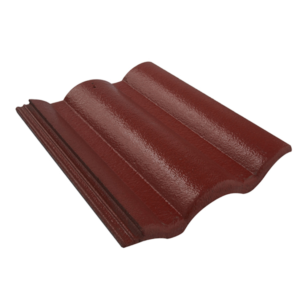 Thailand Corrugrated Concrete Roof Tiles, Great strength CT Gran Onda Hibiscus Red