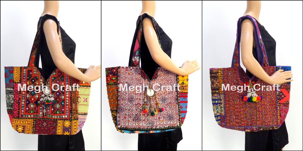 Vintage Clutch Bags - Ethnic Tribal Banjara Mirror work clutch -Kutch Handmade Banjara Clutch