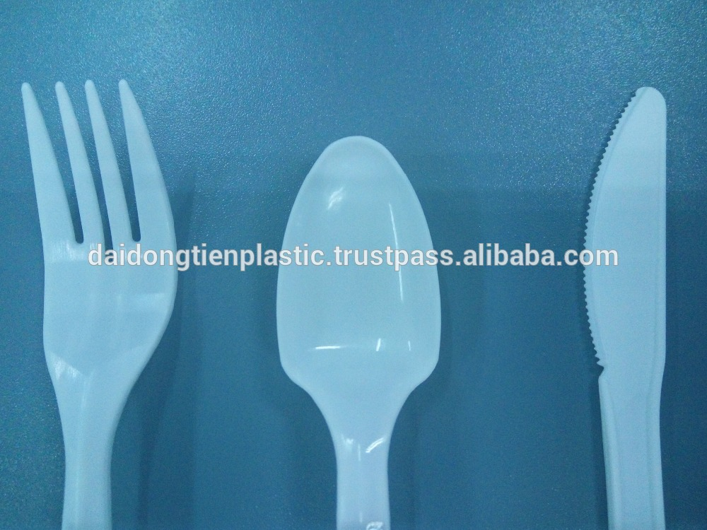PP disposable plastic: Spoon, Knife, Fork, BPA free, safe for health and environmentally-friendly