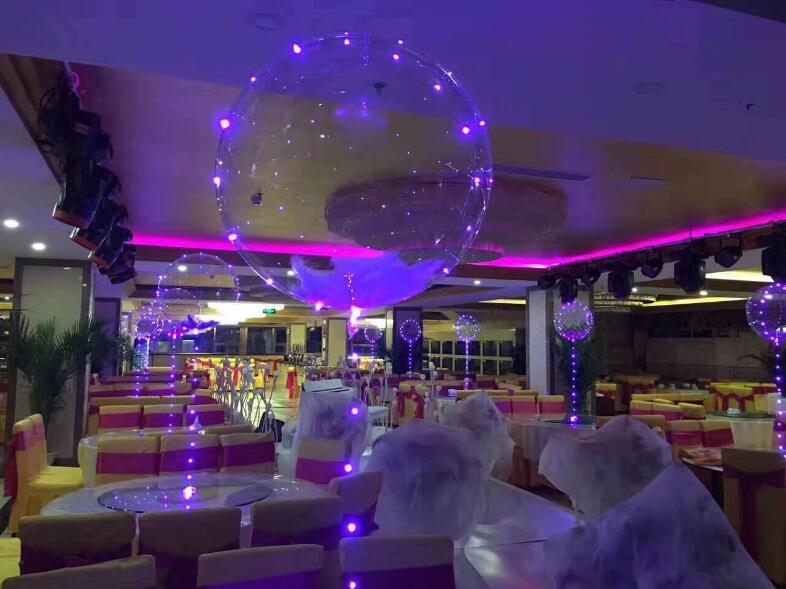 High quality 18 inches PVC CLEAR balloon+3m led flashing light+70cm stick&cup LED balloon light