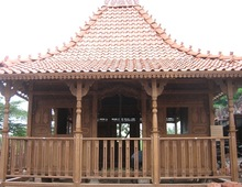 Simple Affrodable Price Garden Prefabricated Wooden House with Teak Wood and Carved Decoration