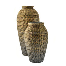 Home decor water hyacinth vase ecofriendly/ Good price woven vase made in VietNam