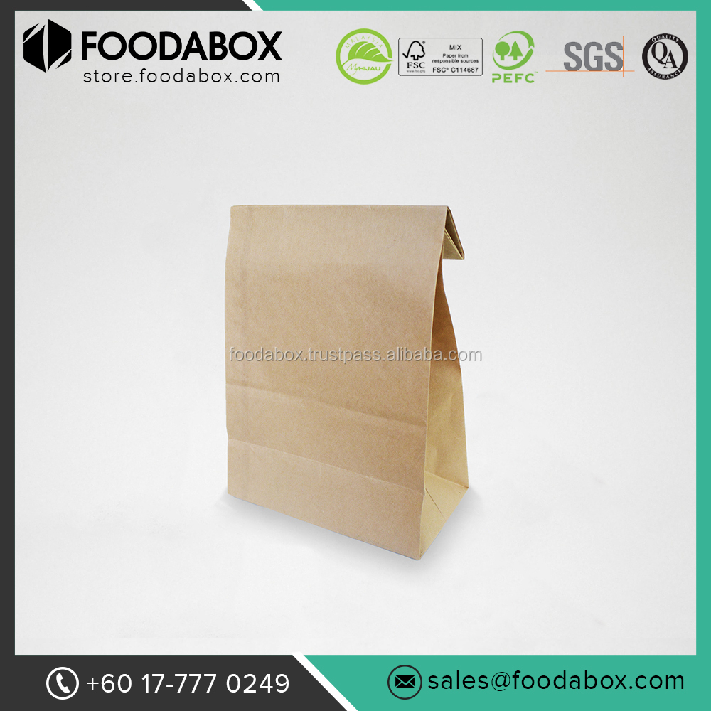 Good Quality and Cheap Disposable Brown Kraft Paper Shopping Bags #SOS 8