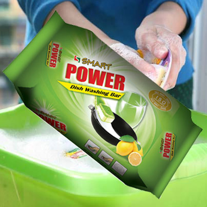Smart Power Dish Washing Bar, cleaning from food spills to grease.