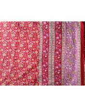 2017 karni 100% cotton red color New products flower printed fabric cotton fabric maxi blouse design fabric for girls