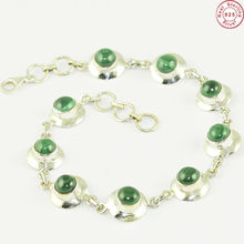 Sensational gemstone silver jewelry malachite bracelet indian jewelry 925 silver bracelet exporter