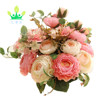 Flowers,Artificial Flowers Plants Silk Plastic Rose Flower Arrangements Wedding Bouquets Decorations Floral Table Centerpieces