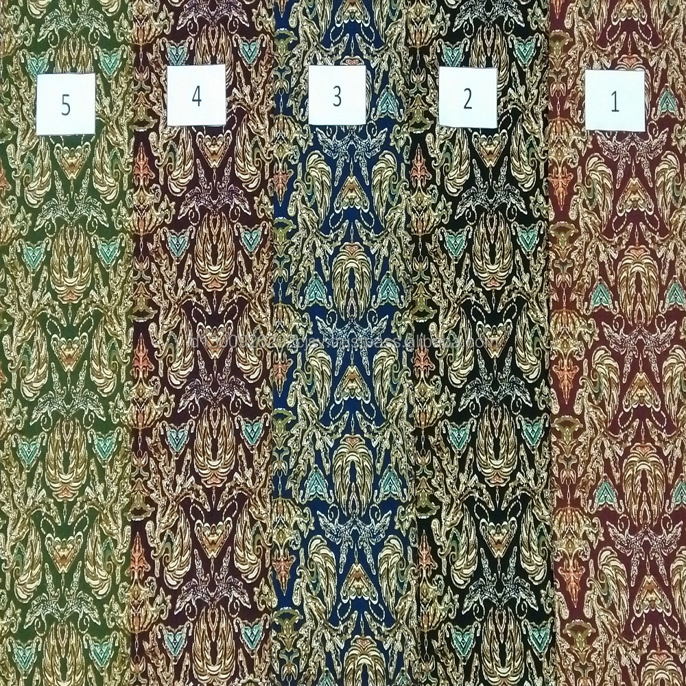 100% Cotton Hand Printed Batik Fabric Clothes Indonesia High Quality