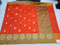 indian saree pure handloom katan silk with blouse