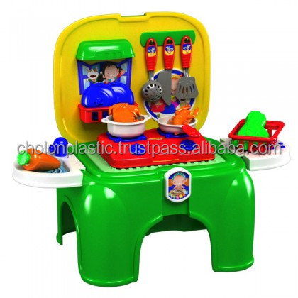 Vietnam wholesale kid interactive toy - CHOLO BLOC Toys - No.250: Cooking Toys in Stool