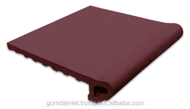 Chocolate hot selling terracotta anti-slip step tiles for stairs, hot sale building materials, gomdatviet terracotta tiles