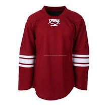 Best selling sublimation blank authentic wholesale america ice hockey jersey