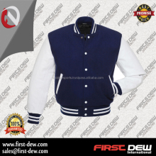 wholesale leather wool athletic plain varsity jacket