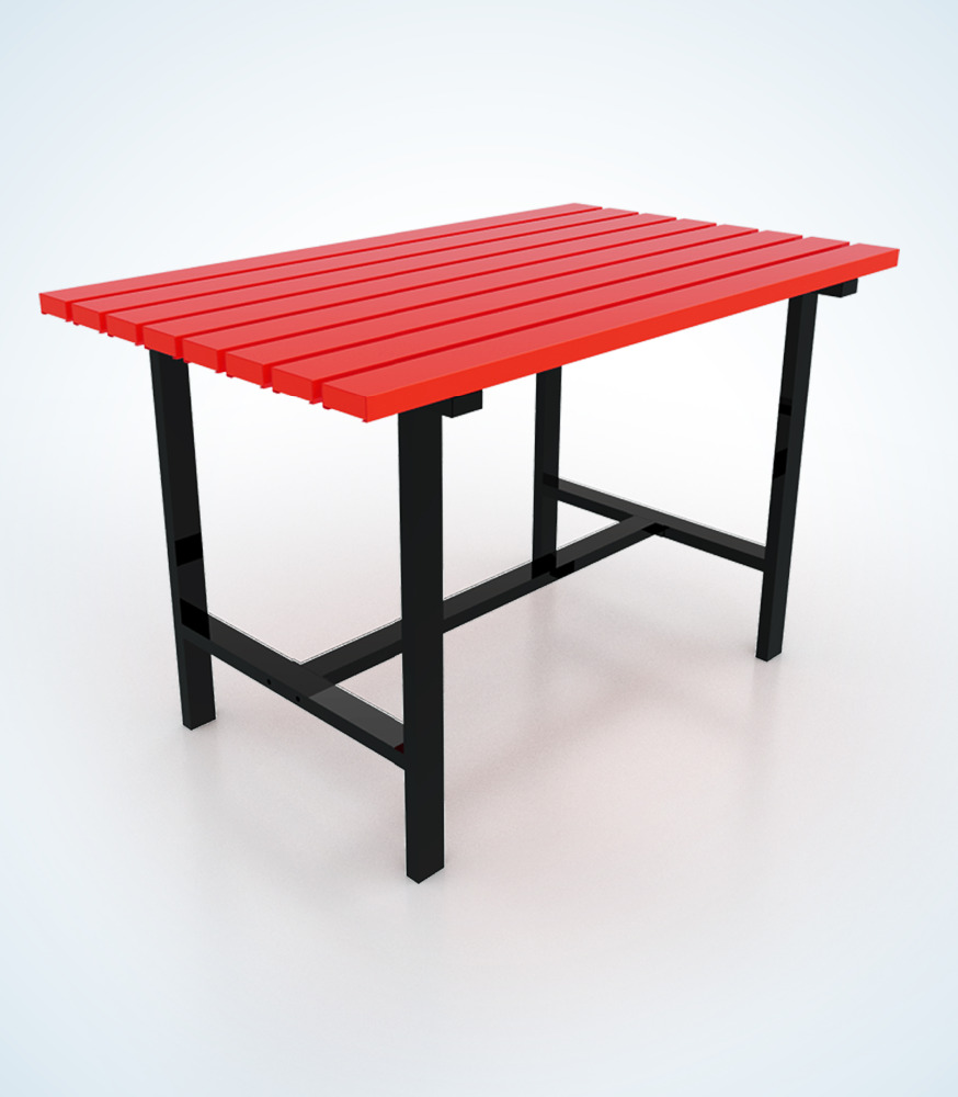 720 x 1200 x 750mm. Metallic Outdoor Table