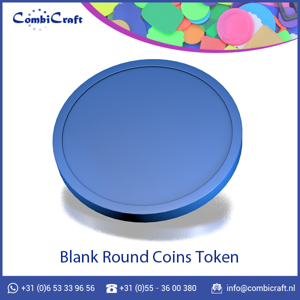 28mm Colored Custom Logo Blank Plastic Token