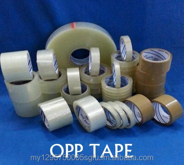 Strong Adhesive OPP Packaging Tape with water base, solvent base, rubber base