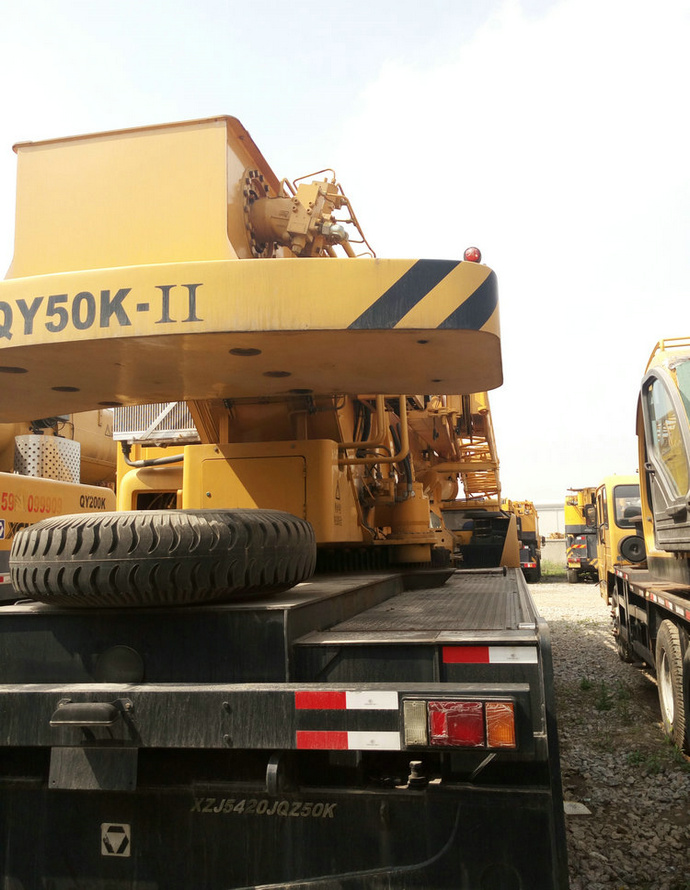 Used XCMG 50ton QY50K-I truck 100% made ni china mobile crane 5 ton for sale