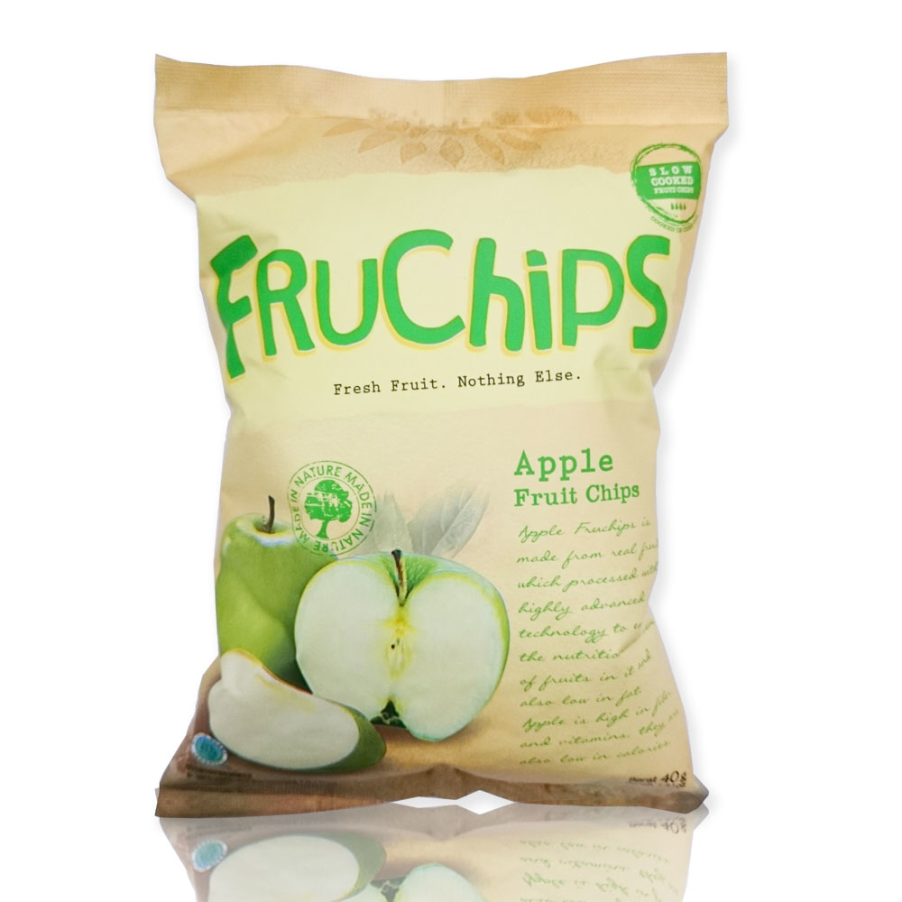 Organic Fruit Chips Snack FRUCHIPS Apple Flavour GPM003
