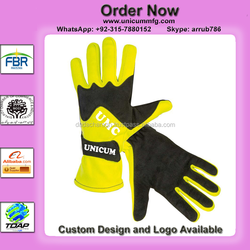 GO KART RACING LEATHER GLOVES