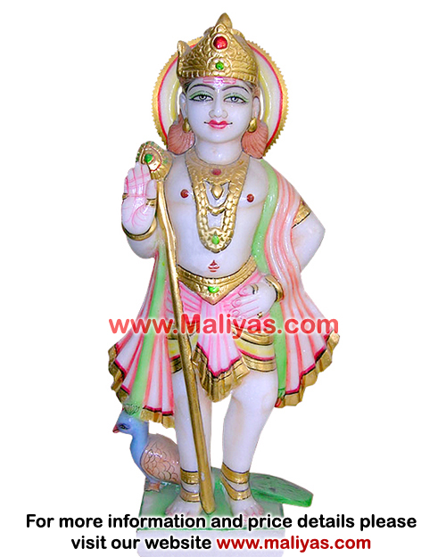 Online purchase Marble Murugan Statue
