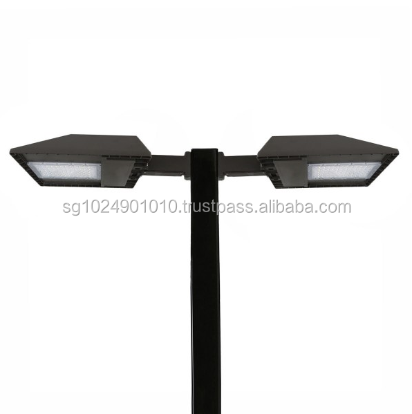 LED Pole Kit with Two 80 Watt LED Lights, 10-20 Foot Pole Height Options.