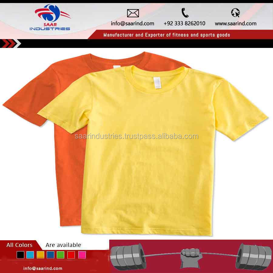 Quality Custom Blank T Shirt Gym