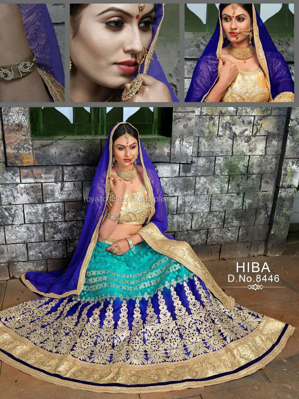 Designer Bollywood Lehenga Choli Net Velvet Santoon Wedding wear with great colour combination
