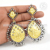 Hot fashion design crystal gemstone earring 925 sterling silver jewelry wholesaler