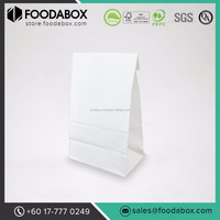Good Quality and Cheap Disposable White Paper Shopping Gift Bags #SOS 4