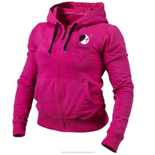 Women Zip up Gym Fleece Hoodies Girls Casual Hooded Sweatshirt