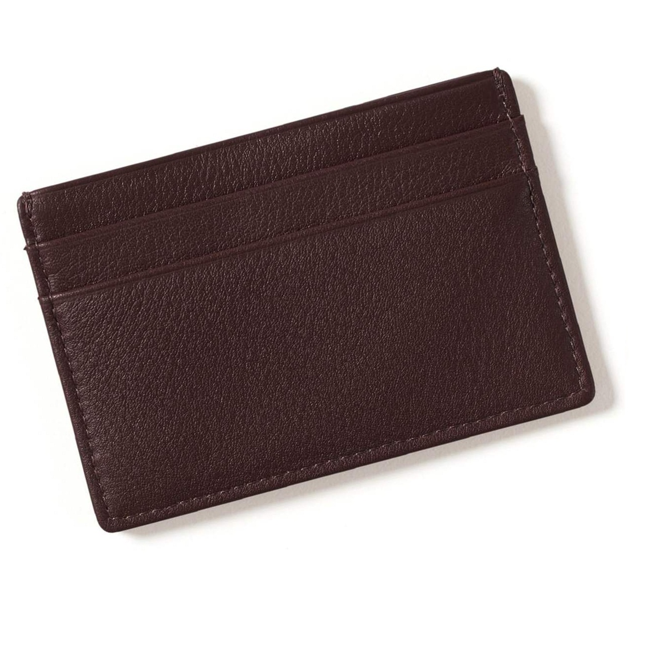 Leather Thin Wallet Slim Minimalist Front Pocket Wallets For Men Credit Card Case