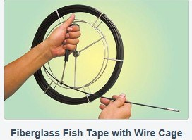 Fiberglass fish tape winder case
