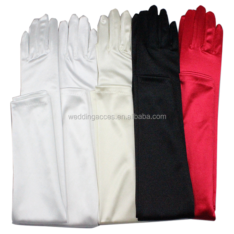 9201/G201B16 bridal gloves wedding long satin gloves wedding gloves bridal