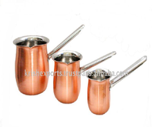 3 Pcs Full Copper Coffee Warmer with SS Pipe Handle