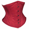 Waspie Red Cotton Steel boned Waist Training Corset Supplier From In Pakistan