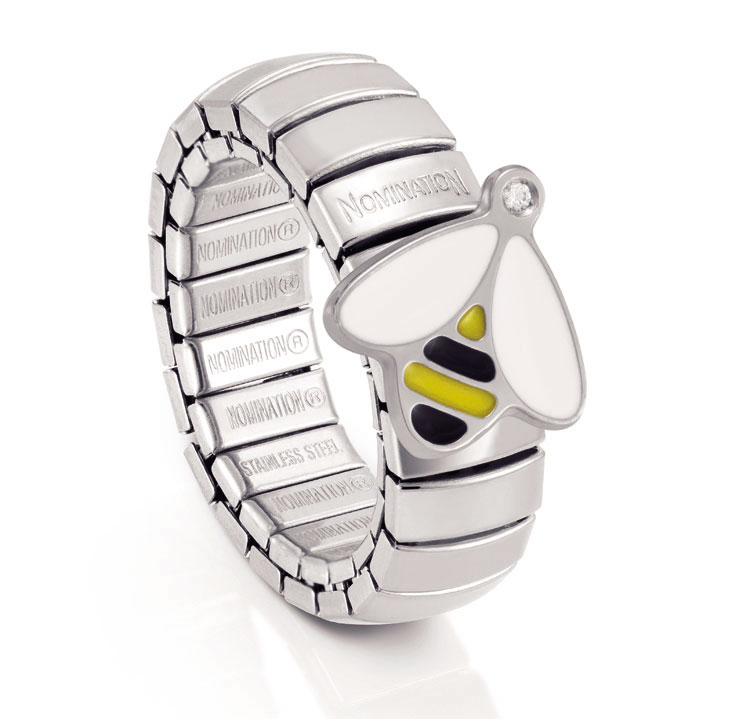 Nomination NATURA Design Ring in Stainless Steel with a Bee shape