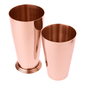 Copper Plated 16oz 28 Oz Double Stainless Steel Boston Bar Shaker