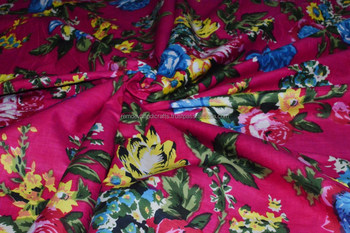 Indian jaipuri block printed cotton fabric running fabric ladies garments fabric wholesaler manufacturer sanganeri