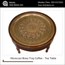 Colored Brass Tray Coffee Table/Tea Table